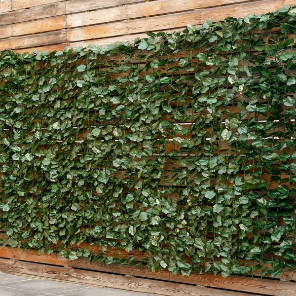 Costway 59 X118 Faux Ivy Leaf Decorative Privacy Fence