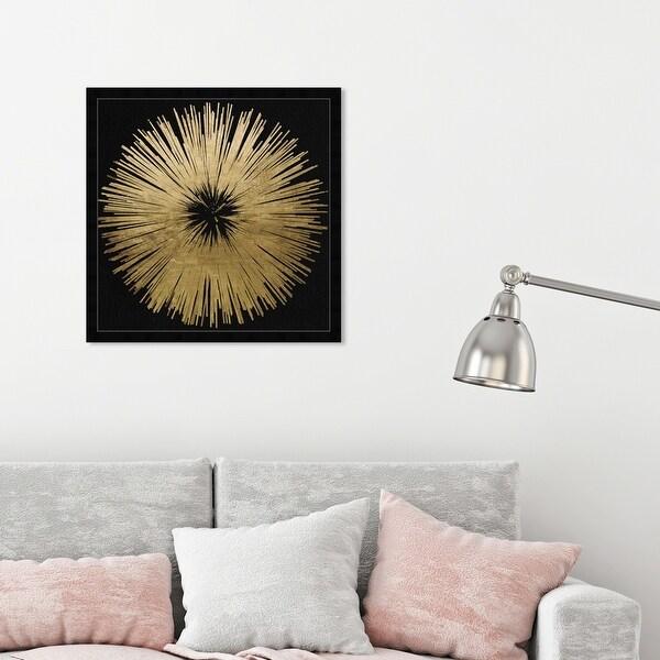 Oliver Gal 'Sunburst Golden Night' Abstract Wall Art Framed Print Paint - Gold, Black. Opens flyout.
