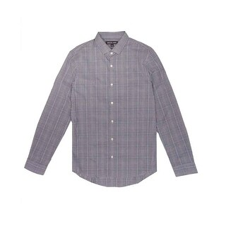 Michael Kors Men's Ryland Checked Slim-Fit Shirt - S