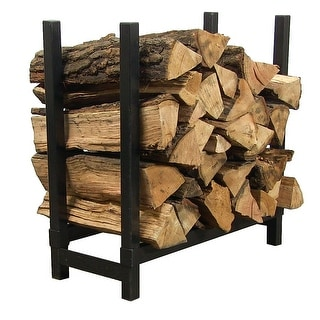 Sunnydaze 2-Foot Indoor Firewood Log Rack - Black