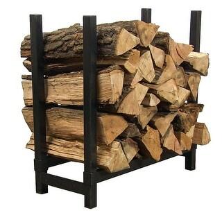 Sunnydaze 30 Inch Black Steel Firewood Log Rack