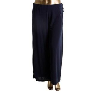 Lauren Ralph Lauren Womens Plus Wide Leg Pants Stretch Side Tie - 1x