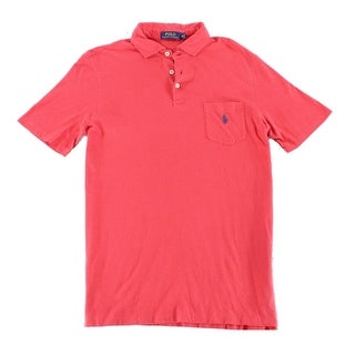 Polo Ralph Lauren Sunrise Red Mens Size Medium M Polo Rugby Shirt