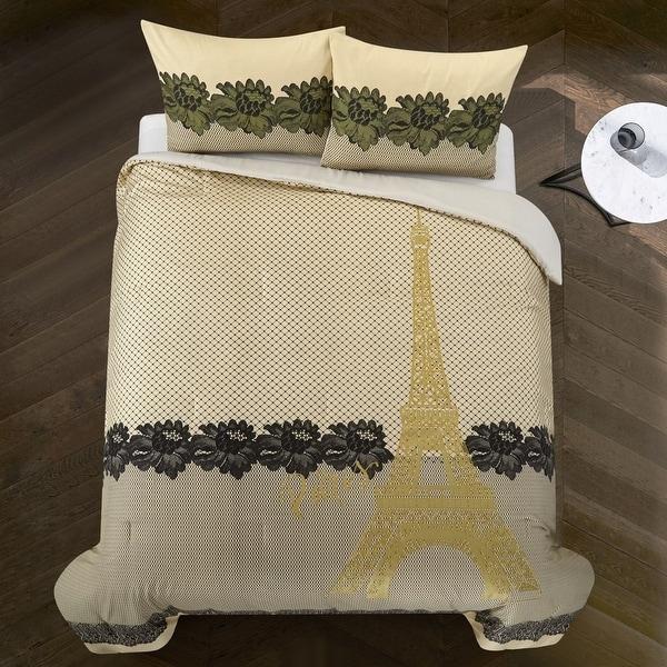 Casa Paris Lace Print Comforter Set, Multiple Sizes. Opens flyout.