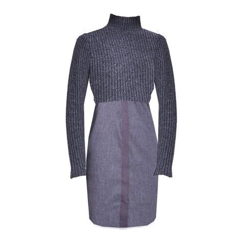 Elie Tahari Raleigh Charcaol Sweater Dress