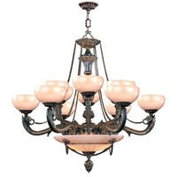 """Crystorama Lighting Group 969 Hot Deal 15 Light 40"""" Wide Chandelier - French White"""