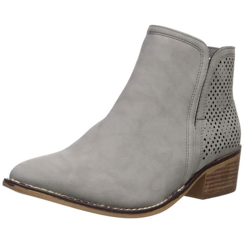 Madden Girl Womens Neville Fabric Pointed Toe Ankle Clog Boots
