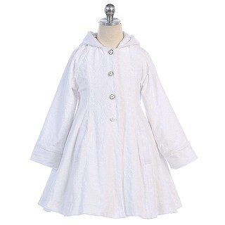 Angels Garment White Wool Hooded Swing Coat Toddler Little Girls 2T-8 (2 options available)