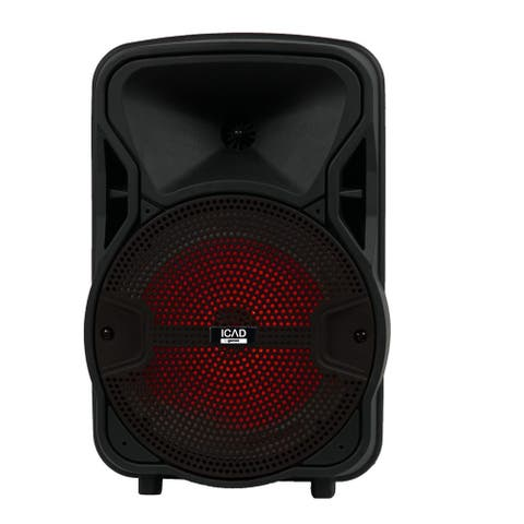 Gemini GSX-L208BTB 500 Watts 8-Inch Backlit LED Bluetooth Speaker
