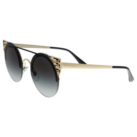 Bulgari BV6088 20188G Black Gold Cat Eye Sunglasses - No Size