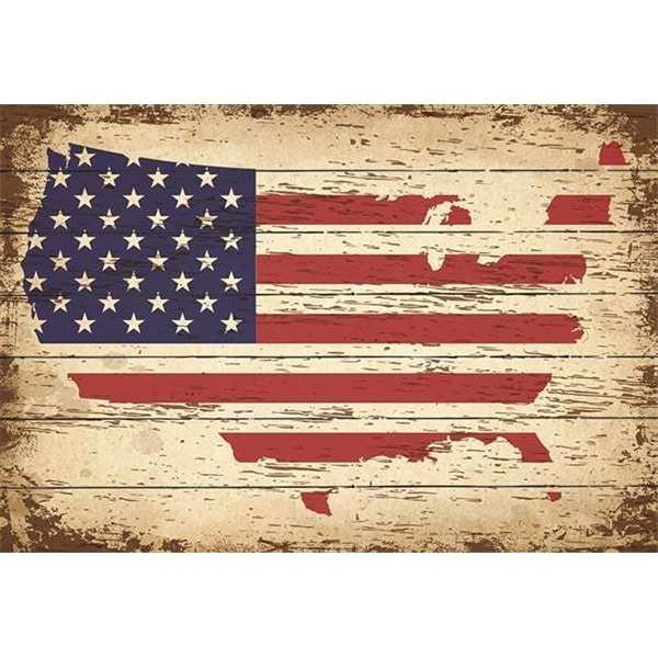 Wood United States Map.Shop 24 5 X 32 In American Flag In United States Map Wood Pallet