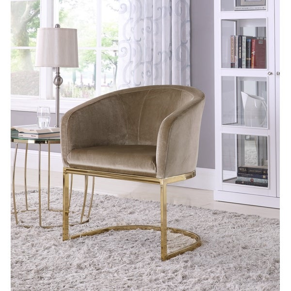 Chic Home Livorno Velvet Upholstered Half-Moon Accent Club Chair. Opens flyout.