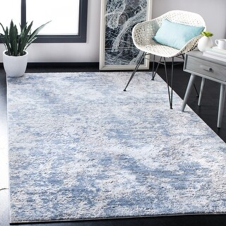 Link to Safavieh Amelia Modern & Contemporary Abstract Grey/Blue Rug Similar Items in Transitional Rugs