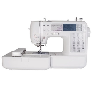 Brother Se400 Combination Computerized Sewing And 4X4 Embroidery Machine With 67 Built-In Stitches, 70 Built-In Designs,