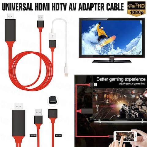 Phone to TV 1080p Universal HDMI HDTV AV Adapter Cable For All Phone Tablet