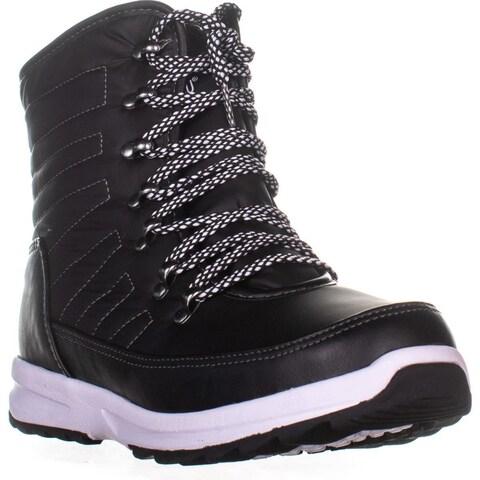 Khombu Elsa Winter Waterproof Ankle Boots, Black