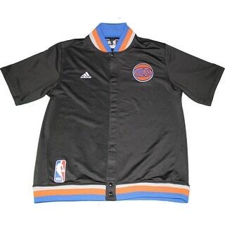 Robin Lopez New York Knicks 201516 Game Used 8 Black Short Sleeve Jacket 3XL