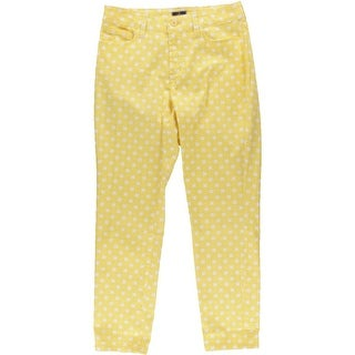 NYDJ Womens Lift Tuck Technology Printed Ankle Pants