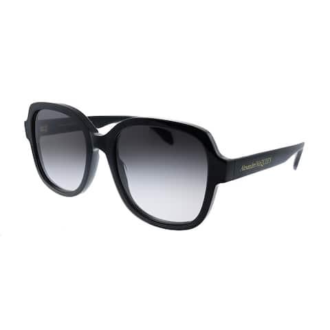 Alexander McQueen AM 300S 001 Womens Black Frame Grey Gradient Lens Sunglasses