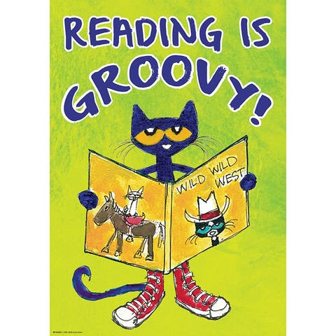 """Pete The Cat Read Is Groovy Poster Positive - Green - 3/8"""" x 19"""""""