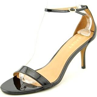 Report Belaire Women Open Toe Synthetic Black Sandals