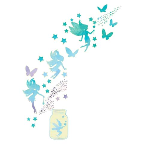 Brewster WPK3018 WallPops Fairy Dust Wall Decorating Kit - 39 Pieces - Pastel