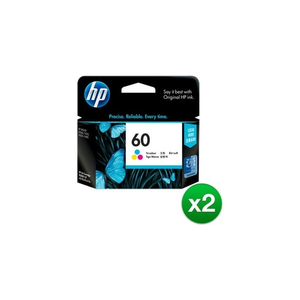 HP 60 Tri-color Original Ink Cartridge (CC643WN)(2-Pack)