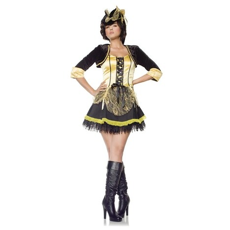 Seven til Midnight Pirates Wench Adult Costume - Solid
