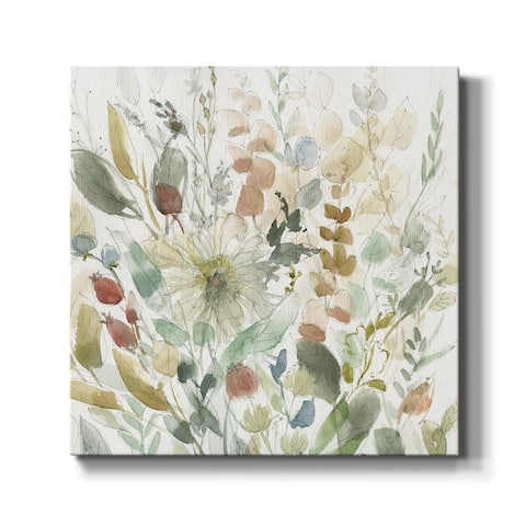 Linen Wildflower Garden-Premium Gallery Wrapped Canvas - Ready to Hang