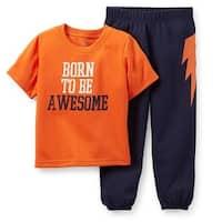 Carter's Baby Boys' Born to Be Awesome 2 Piece Pajama Set