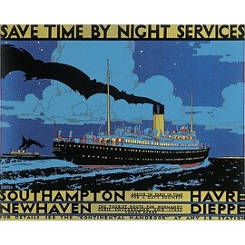 ''Save Time by Night'' by Kenneth Shoesmith Transportation Art Print (24.5 x 30.5 in.)