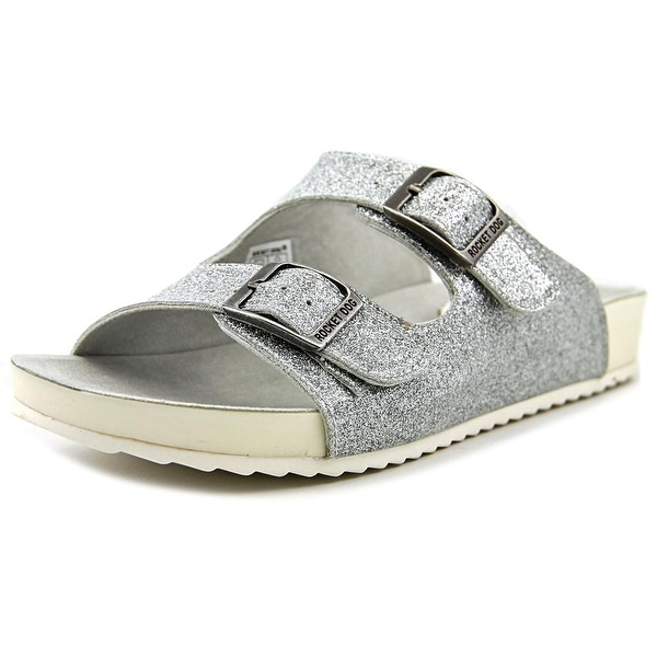 Rocket Dog Flygirl Shine On Women Open Toe Synthetic Silver Slides Sandal