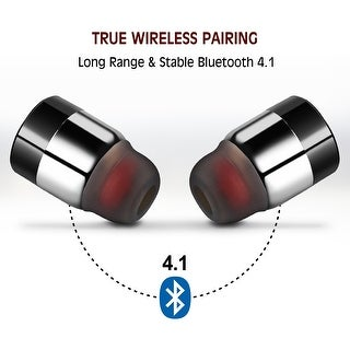 Mini True Wireless Bluetooth Twins Stereo In-Ear Earbuds Headset Earphone,color Silver