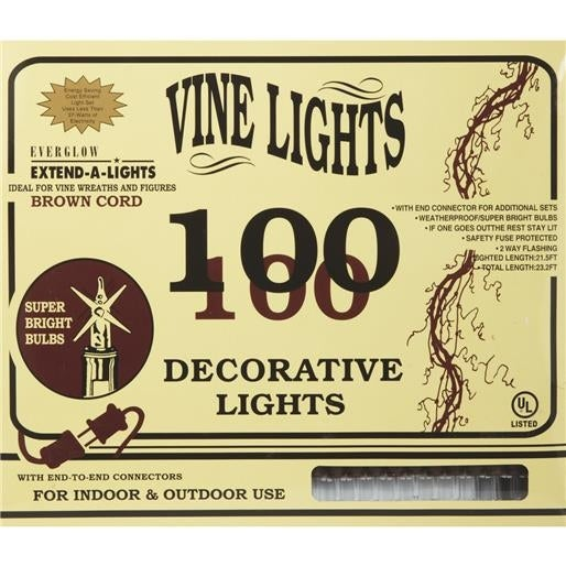 J Hofert 100Lt Bw/Clr Vine Lights 2280-02 Unit: BOX