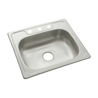 """Sterling 14631-3  Middleton 25"""" Single Basin Drop In Stainless Steel Kitchen Sink with SilentShield® - Stainless Steel"""