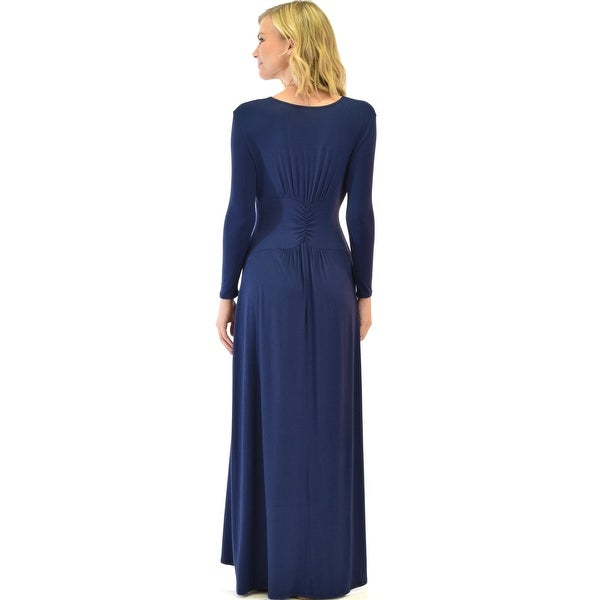 3c000168d5 Shop sweetest kiss long sleeve navy maxi dress-Navy-Small - Free Shipping  Today - Overstock - 23109399