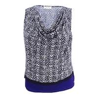 Calvin Klein Women's Plus Size Printed Colorblocked Blouse - night multi