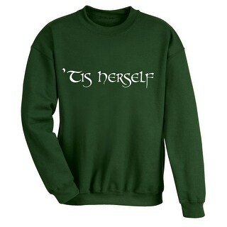 Women's 'Tis Herself Sweatshirt - Long Sleeve - Irish Green (More options available)