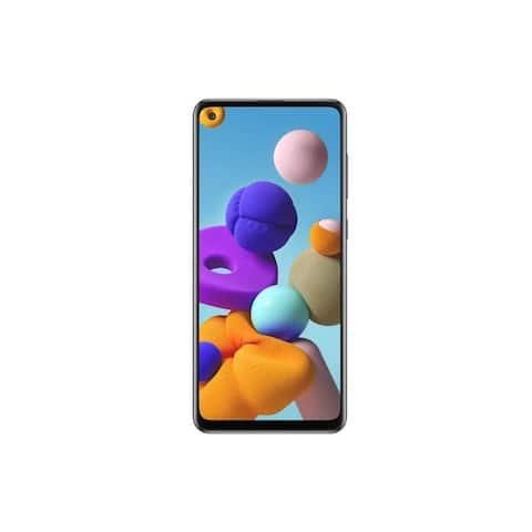 Samsung Galaxy A21S 128GB 4G LTE 4GB RAM Factory Unlocked Smartphone - Black