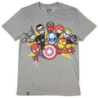 Tokidoki Marvel Civil War Mens Heather Grey T-Shirt