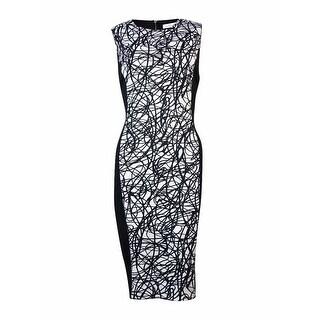 Calvin Klein Women's Printed Panel Dress (8, String) - String - 8