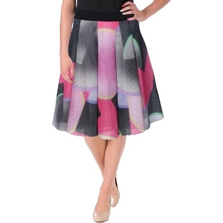 Milly Womens Knee-Length Printed Flare Skirt - 8