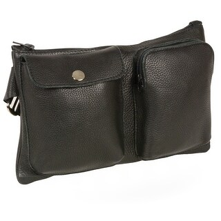 Unisex Belt Bag W/Two Front Pockets