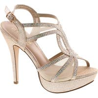 Vice-254 Women's High Heel Rhinestone Strappy Formal Occasion Wedding Prom Dress Sandal Shoes - vice-254 nude