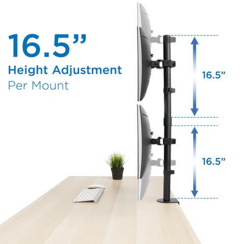 "Mount-It! Vertical Dual Monitor Mount for 19""-32"" Inch Screens"