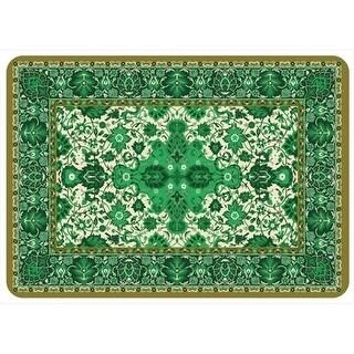 20491052231 Tabriz Mat in Green - 1.83 ft. x 2.58 ft.