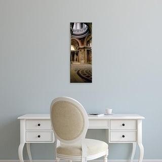 Easy Art Prints Panoramic Images's 'Pantheon Interior Paris France' Premium Canvas Art