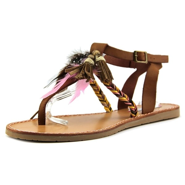Coolway Melrose Women Open Toe Synthetic Brown Thong Sandal