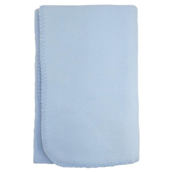 Bambini Blank Blue Polarfleece Blanket - Size - 30x40 - Boy
