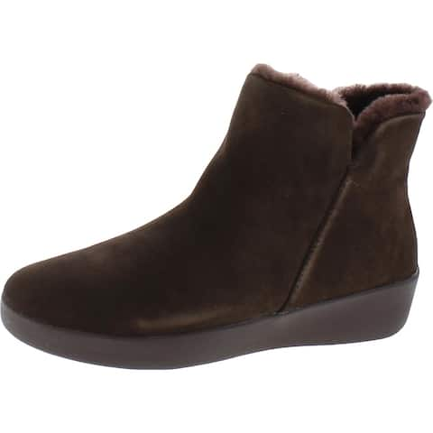 Fitflop Womens Mila Booties Suede Faux Fur Lined